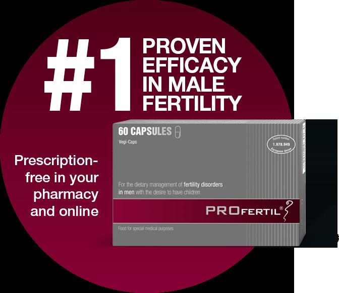 PROFERTIL®: #1 proven efficacy in male fertility
